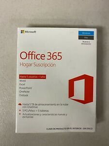 [SPANISH] Microsoft Office 365 Home / Family1 Year Subscription 5 Users 5TB