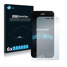6x Displayschutzfolie Asus ZenFone 2 Laser ZE500KL Schutzfolie Klar Folie