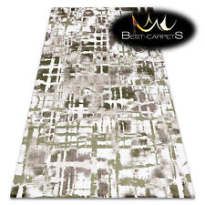 "SOFT AMAZING ACRYLIC RUGS ""DIZAYN"" 8843 Thick exclusive green beige HIGH QUALITY"
