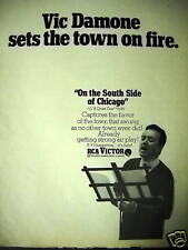Vic Damone sets the town on fire 1967 Promo Poster Ad mint condition