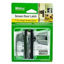 Whitco SCREEN DOOR LATCH Left/Right Opening Door 25mm Thick- BLACK *Aust Brand