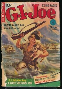 G. I. JOE No. 6 1951 Ziff-Davis War Comic Book NORMAN SAUNDERS Cover  1.5 FR/GD