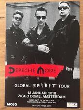 DEPECHE MODE - GLOBAL SPIRIT TOUR PROMO HANDBILL FLYER AMSTERDAM ticket 2018 LP