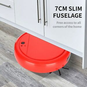 Sweeping Robot 4‑in‑1 Automatic Vacuum Cleaner USB Charging For Office Home Red
