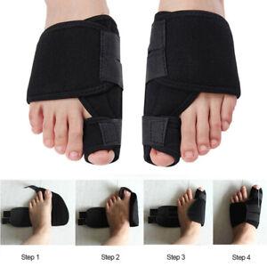 Pair Big Toe Bunion Splint Straightener Corrector Hallux Valgus Relief Foot Belt