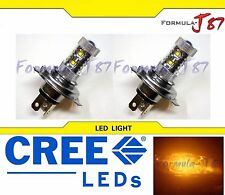 CREE LED 50W 9003 HB2 H4 ORANGE AMBER TWO BULB HEAD LIGHT JDM SHOW LAMP REPLACE