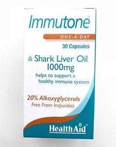 HealthAid Immutone Shark Liver Oil 1000mg 30 Capsules
