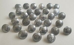 Old UK Fire Brigade Buttons X 31 (All Different)