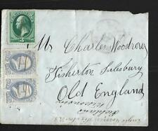 USA, 1876 COVER TO  SALISBURY UK, PEN CANCELLED 5c RATE USED