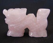 Rose Quartz Dragon Statue