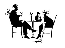 BANKSY CLOCKWORK COUPLE STENCIL REUSABLE FROM A4 180 mc