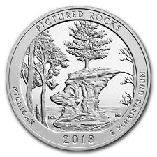 5 oz ATB America the Beautiful 999 Silber Silbermünze Pictured Rocks 2018