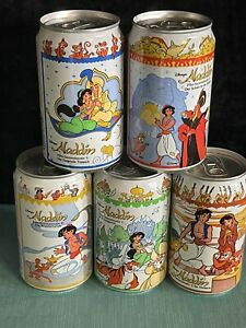 Coca-Cola Fanta Soda cans from Germany. Aladdin. Complete Set 5 cans comic