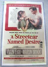 80's Vintage ☆ A STREETCAR NAMED DESIRE ☆ Marlon Brando ☆ Lobby Card Poster