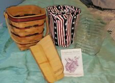 1995 Carry Along All American Longaberger Basket with Fabric Liner Divider Tray