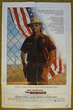 """Jack Nicholson is a corrupt border Agent in """"THE BORDER"""" - Movie poster"""