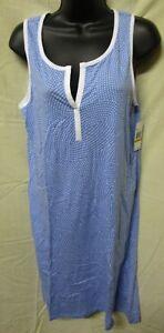 NAUTICA~SMALL~Women's Provence Blue Polka Dot Chemise Nightgown U6KO21