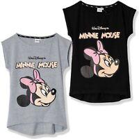 Disney Minnie Mouse Cartoon 100% Cotton T-Shirt Tees Tops Woman Womens Teenagers