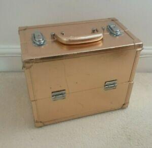 Extra Large  Case Beauty Box Make up Jewelry Cosmetic Storage Box - Bronze