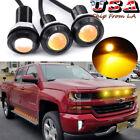 For Chevy Silverado 1500 2500 3500 Amber Led Grille Running Marker Light Lens