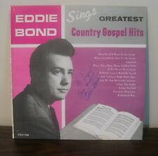 LP Eddie Bond Sings Greatest Country Gospel Hits AUTOGRAPHED COVER ONLY