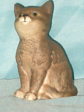 """VINTAGE BESWICK SITTING CAT WITH OLD FISH BESWICK STAMP 4"""" TALL PERFECT CONDITIO"""