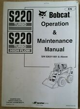 Bobcat S220 Turbo Skid Steer Loader operatori manuale