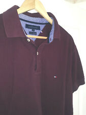 Mens TOMMY HILFIGER 40's Two Ply Cotton Polo t shirt. Size XL