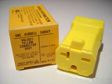 New Hubbell HBL5469VY AC Connector NEMA 6-20 Female Valise Yellow