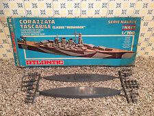 ATLANTIC 471 CORAZZATA TASCABILE BISMARCK SU SPRUE CON SCATOLA SCALA 1/700