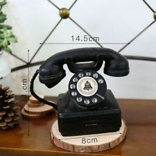 1x Telephone Decoration Antique Rotary Dial Phone Model Vintage Phone Booth Call