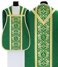 Green Roman Chasuble with stole R012-Z25 Casulla Romana Verde Casula Grün Kasel