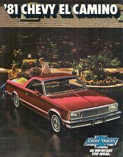 Chevrolet El Camino 1981 USA Market Sales Brochure Royal Knight Super Sport