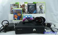 Microsoft Xbox 360 S Console Bundle 250GB Chaos controller Headset GAMES