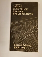 1975 Ford Truck Service Book