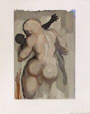 Salvador Dali 1960 DIVINE COMEDY PURGATORY #6 Color Woodcut Wood Block Engraving