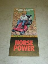 WHEEL HORSE 100-SERIES REAR ENGINE RIDING MOWERS SALES BROCHURE