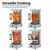 Vertical Counter Top Electric Kebab Tower Rotating Rotisserie Oven Grill Chicken