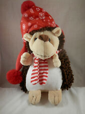 "Teddy Mountain Hedge Hog Holiday Hat & Scarf plush 15"" Uk"
