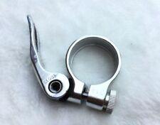 Cierres de tija de sillín de plata de aluminio para bicicletas