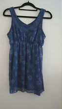BILLABONG SIZE 8 SLEEVELESS TOP IN BLUES
