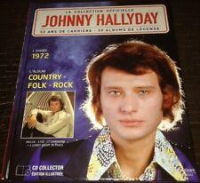 JOHNNY HALLYDAY LIVRE ET CD L ANNEE 1972 COUNTRY FOLK ROCK COLLECTION OFFICIELLE