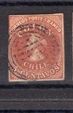 CHILE 1854 Desmadryl Sc.3 4 margins NO flaws V