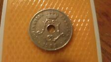 Belgium 1908 - 25 Centimes coin - King Leopold II / Koninkrijk Belgie.