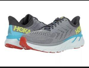 Hoka One One Men's Clifton 7 Running Shoe, Wild Dove/Dark Shadow, 9 D(M) US