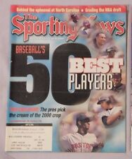 50 BASEBALL BEST PLAYERS JETER MARTINEZ BONDS SOSA GRIFFEY 2000 Sporting News