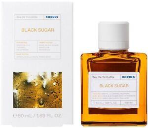 Korres Eau De Toilette Women's Perfume Black Sugar Oriental Lilly & Violet 50ml