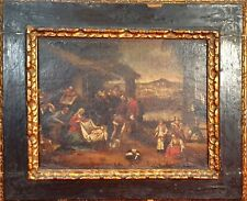 ADORATION OF THE SHEPHERDS. O/L. OLD FRAME. DUTCH SCHOOL. XVII CENTURY.