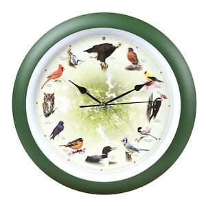 Mark Feldstein Limited Edition 20th Anniversary Singing Bird Wall Clock - 8 Inch