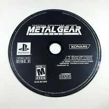 Metal Gear Solid 1: The Essential Collection (PS2, 2008) Disc 2 Only